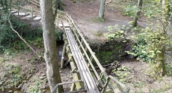 Little wooden footbridge
