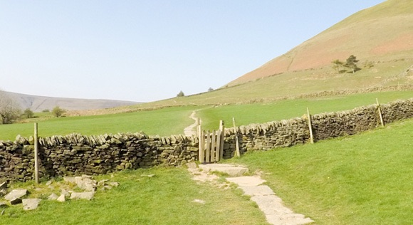 Path and gate near Pennine Way Start