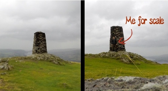 Hallin Fell Trig height