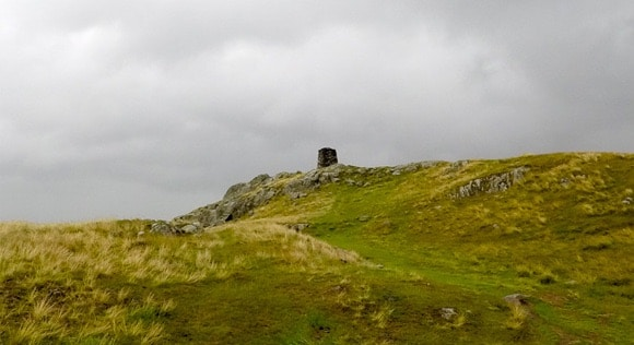 Hallin Fell trig in the distance