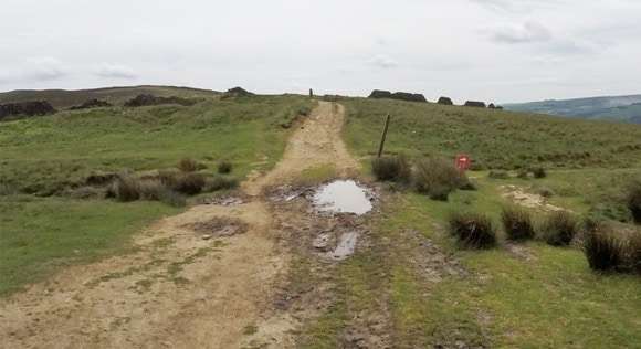 Muddy path leading to Win Hill