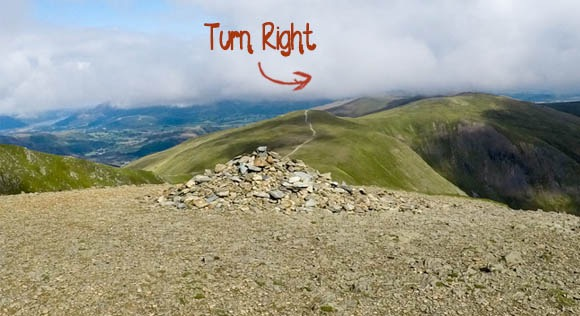 Cairns at Helvellyn and Swirral Edge