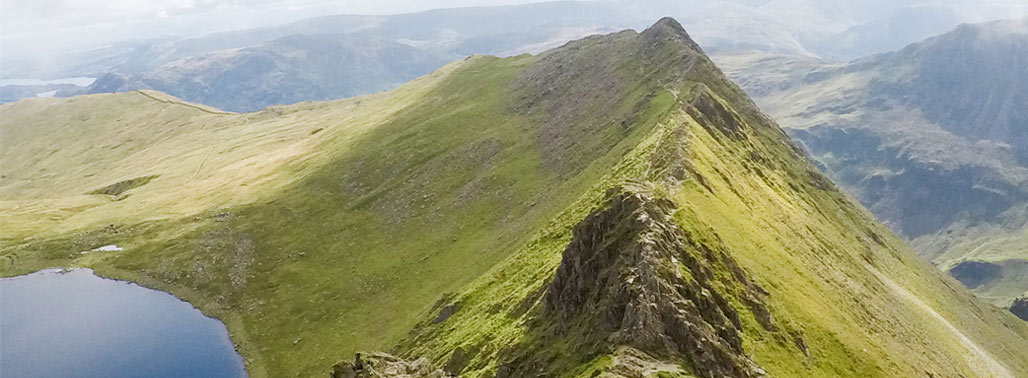 Helvellyn Striding Edge Red Tarn Featured Image