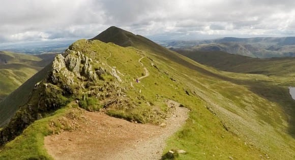 Path at the bottom of Swirral Edge