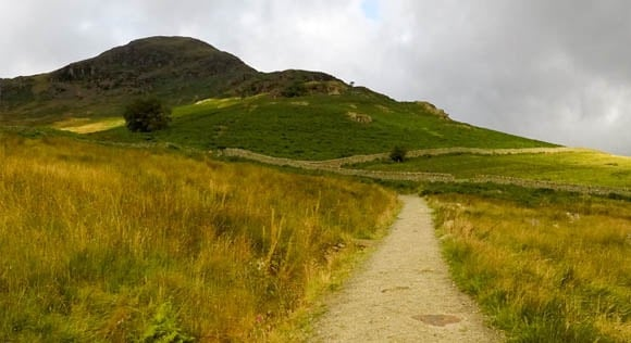 Path at the start of Helvellyn route