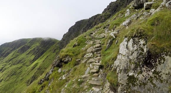 Steps towards the top of Helvellyn