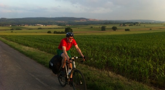 Mike cycling in Germany