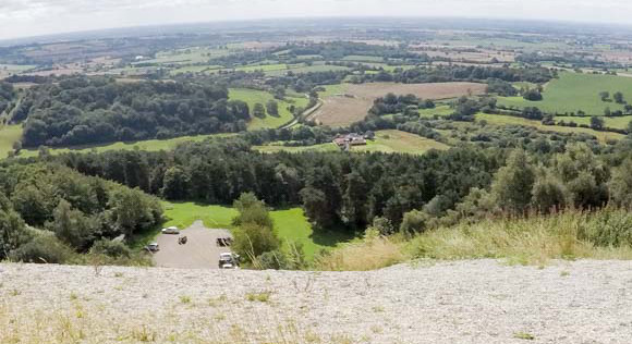View from white horse