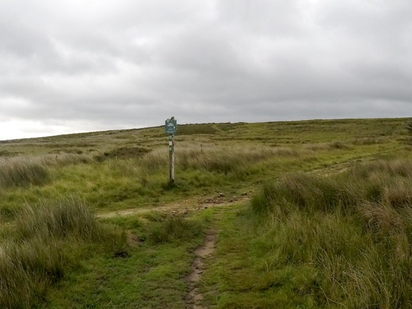 Signpost for Stanage Edge