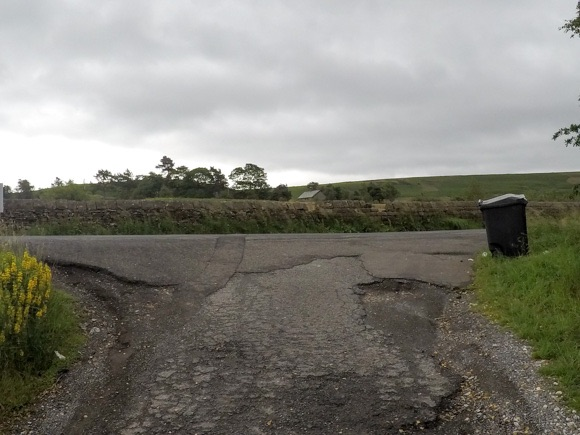 section of road on route to stanage