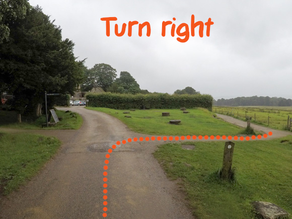 Right turn at Longshaw Estate