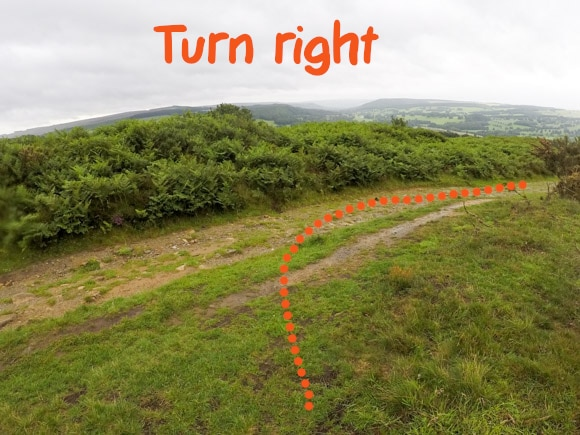 Right turn to main path