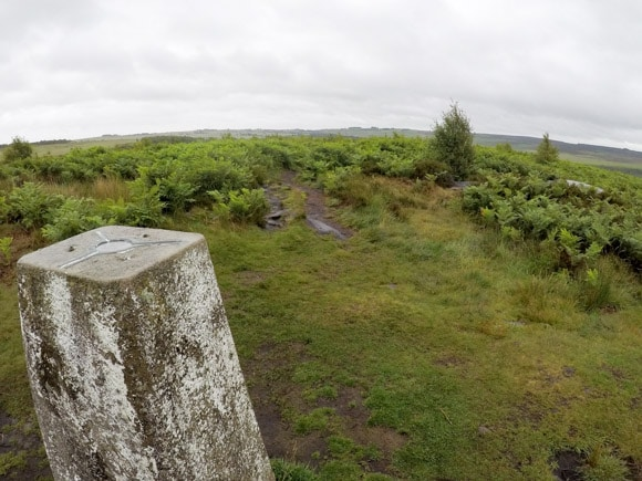 Trig at top of Birchens Edge