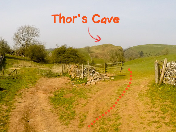 Thors cave in the background