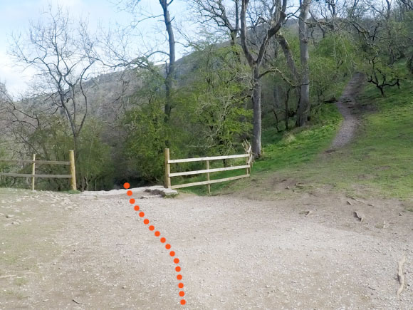 Dovedale to Milldale route