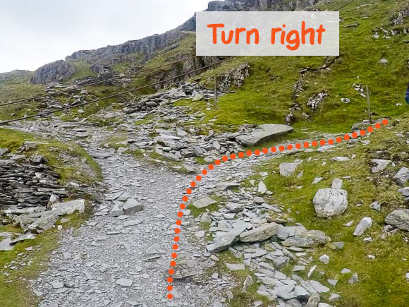 Right turn on Old Man of Coniston