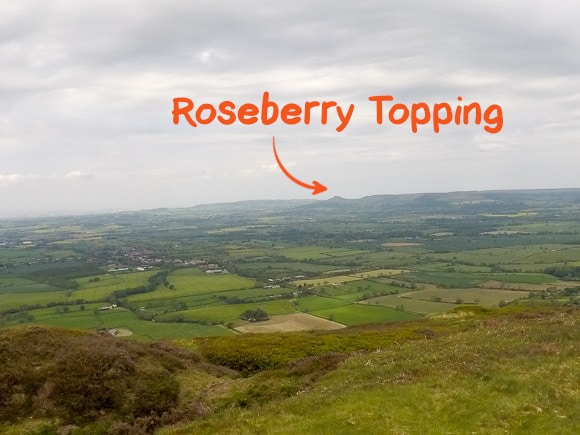 Roseberry Topping in distance