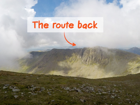 The route back down